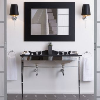 Imperial Adare Marble Console Stand with Radcliffe Basins