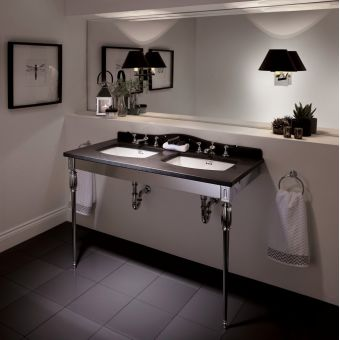 Imperial Troon Marble Console Stand with Radcliffe Basins - WM1US01030