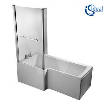 Ideal Standard Concept Space Square Idealform L Shaped Shower Bath