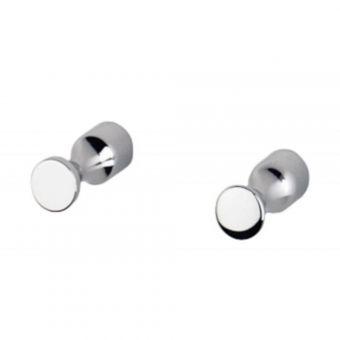 Inda Hotellerie Chrome Robe Hooks (pair) - A05610CR