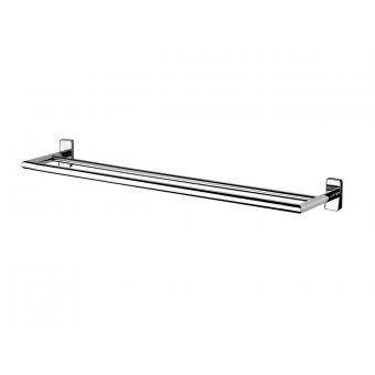 Inda Storm Chrome Double Towel Rail