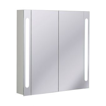 Bauhaus Mirrored Aluminium Wall Hung Cabinet
