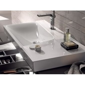 Geberit Xeno2 Offset 90cm Washbasin with Shelf Surface