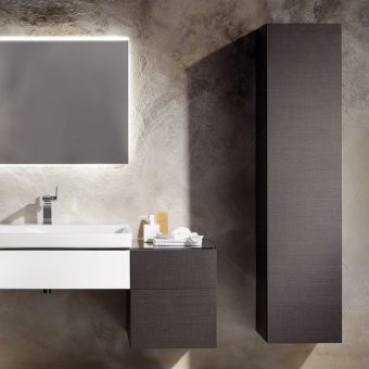 Geberit Xeno2 170cm Tall Storage Cabinet with Internal Mirror