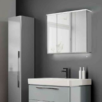 Geberit Option Plus Mirror Cabinet & Bathroom Cabinets Also Available With Mirrors u0026 Lights : UK Bathrooms