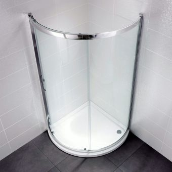 April Identiti2 Bow Fronted Quadrant Shower Enclosure