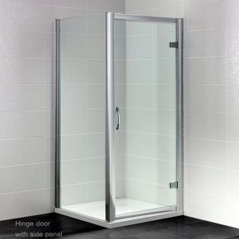 April Identiti Hinged Door Shower Enclosure