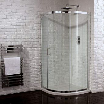 Aquadart Venturi 6 Single Door Quadrant Shower Enclosure