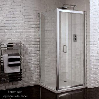 Aquadart Venturi 6 Frameless Bi-fold Shower Door