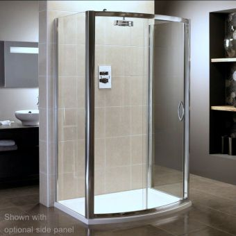 April Identiti2 Bow Fronted Slider Shower Enclosure