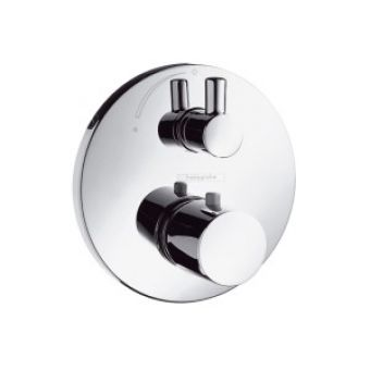 Hansgrohe Ecostat S (Version 1) thermostatic mixer for concealed installation with shut-off valve