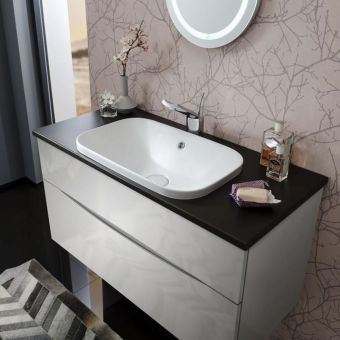 Bauhaus Glide II 100 Unit with Plus+Ton Worktop and Basin