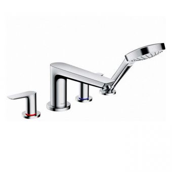 Hansgrohe Talis E 4-hole Rim-mounted Bath Mixer with Shower Handset