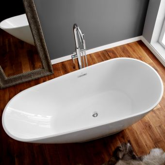 April Danby Deep Freestanding Oval Bath