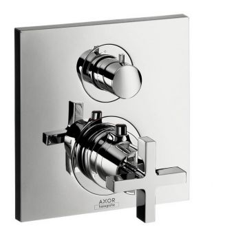 AXOR Citterio Shower Mixer with Shut-Off and Diverter Valve (Cross Handle) - 39725000