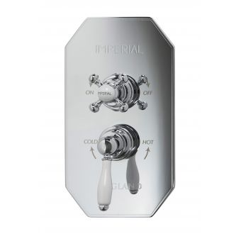 Imperial Quadrata Cambridge Concealed Thermostatic Shower Valve with Radcliffe Handle
