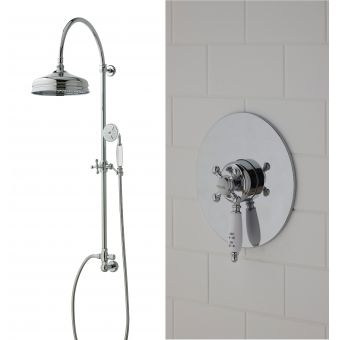 Imperial Westminster Concealed Shower with Edwardian Riser Set and Drench Head