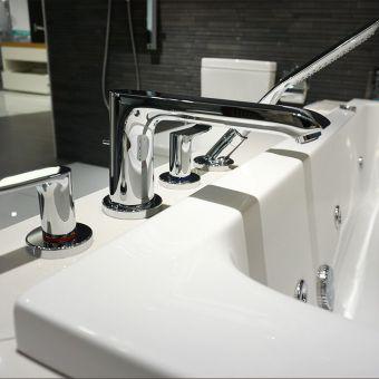 Hansgrohe Metris 4 Hole Bath Shower Mixer Tap Set - 31442000