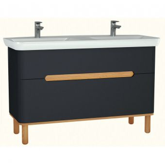 Vitra Sento Vanity Unit with 2 Drawers and Double Wash Basin