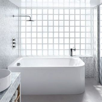 ClearGreen Viride Offset Corner Bath