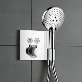 Hansgrohe ShowerSelect 2 Outlet Shower Mixer with Shower Support