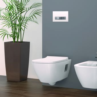 Geberit Smyle Square Rimfree Wall Hung Toilet