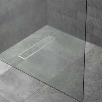 Kudos FLOOR4MA Wetroom Shower Base with Linear Drain - WRLT12900