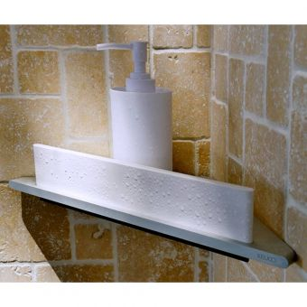 Keuco Edition 400 Corner Shower Shelf with Integrated Glass Wiper