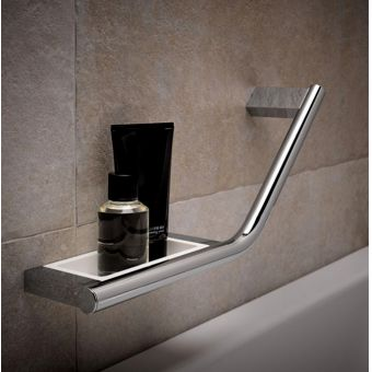 Keuco Plan Grab Bar with Integrated Soap Holder