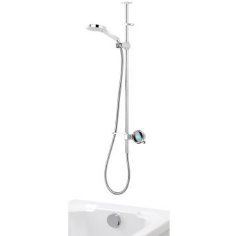 Aqualisa Q Smart Shower with Adjustable Head & Overflow Bath Filler
