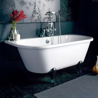 Burlington Avantegarde Back to Wall Traditional Freestanding Bath