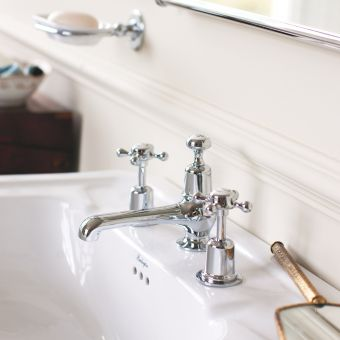 Burlington Claremont 3 Hole Basin Mixer Tap