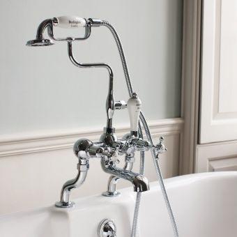 Burlington Claremont Deck Mounted Bath Shower Mixer Tap