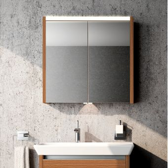 Vitra T4 Double Door Illuminated Mirror Cabinet