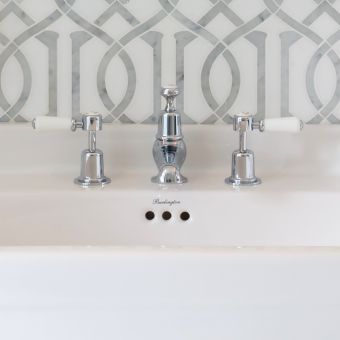 Burlington Kensington 3 Hole Basin Mixer Taps