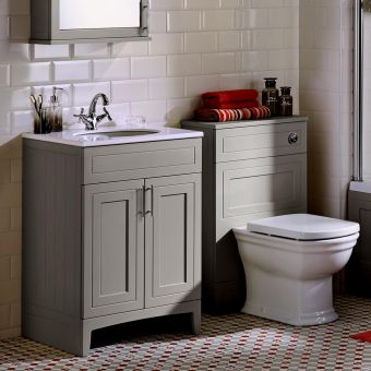 Noble Classic Extra Deep Vanity Unit with Worktop and Washbasin
