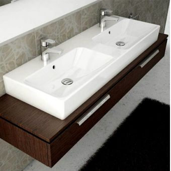 Vitra Options Nuo Double Bathroom Basin