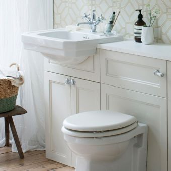 Burlington 60cm Semi-Recessed Basin Unit