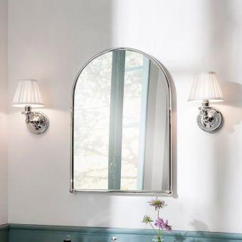 Burlington White Fine Pleated Bathroom Light