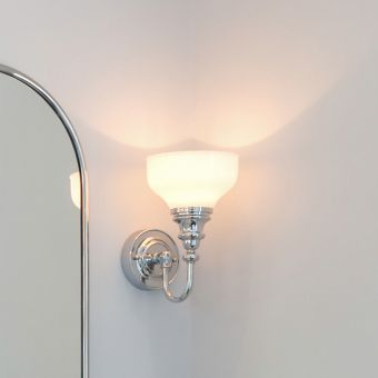 Burlington Frosted Cup Bathroom Light