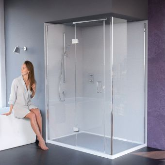 Hinged Shower Doors With Inline Panels Amp Semi Frameless