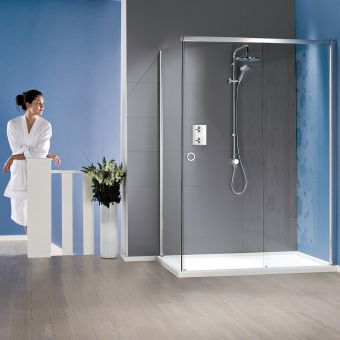 Matki Radiance Sliding Shower Enclosure & Slimline Tray