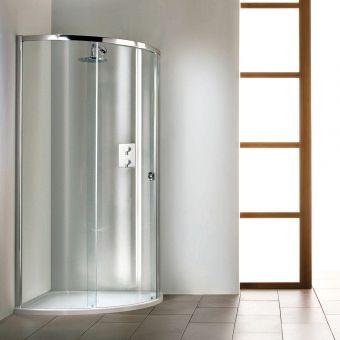 Matki Radiance Curved Surround with Slimline Shower Tray