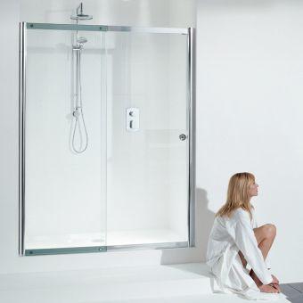 Shower Doors.Kudos Pinnacle 8 Sliding Shower Door For Recess