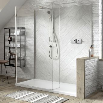Matki Boutique Walk-In Corner Shower Enclosure
