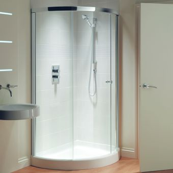 Matki Original Radiance Curved Offset Corner Shower Enclosure