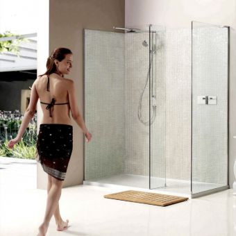 Matki Boutique Walk-In Corner Walk-in Shower Enclosure with Side Panel