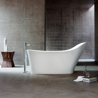 Clearwater Nebbia Back Support Natural Stone Freestanding Bath