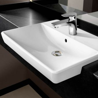 Villeroy and Boch Avento Slimline Semi-recessed Washbasin