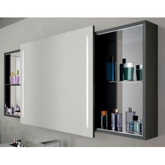 Vitra Memoria Illuminated Mirror Cabinet with Sliding Door